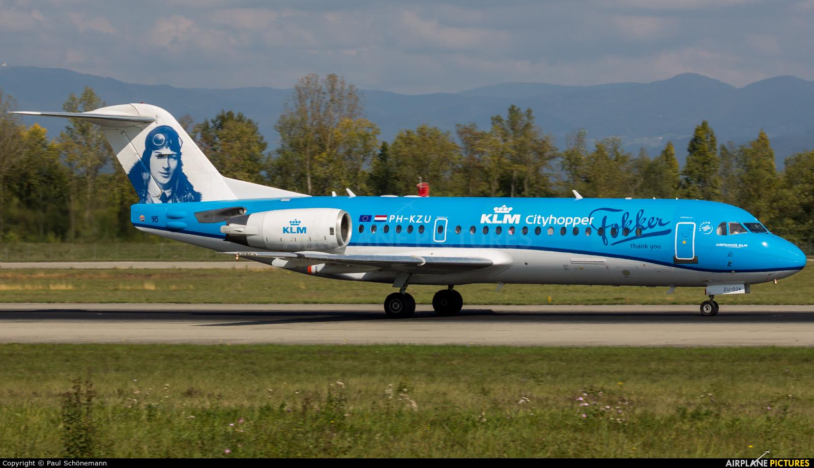 KLM Cityhopper PH-KZU aircraft at Basel - Mulhouse- Euro