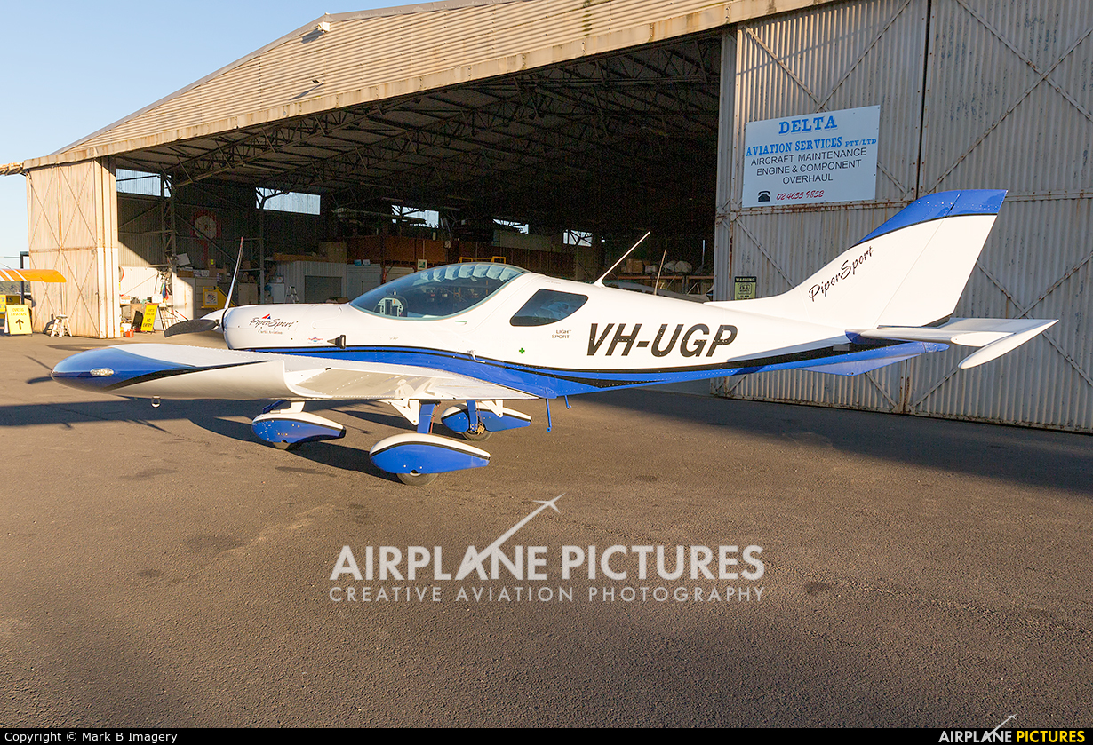 Private VH-UGP aircraft at Camden Airport, Sydney Australia
