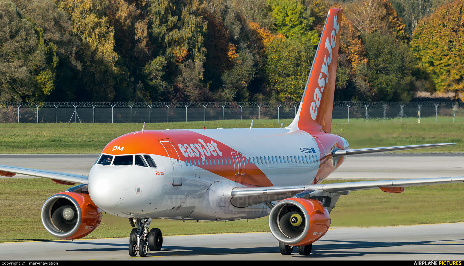 easyJet G-EZDM aircraft at Munich