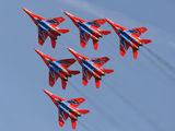 "- - Russia - Air Force ""Strizhi"" Mikoyan-Gurevich MiG-29UB aircraft"