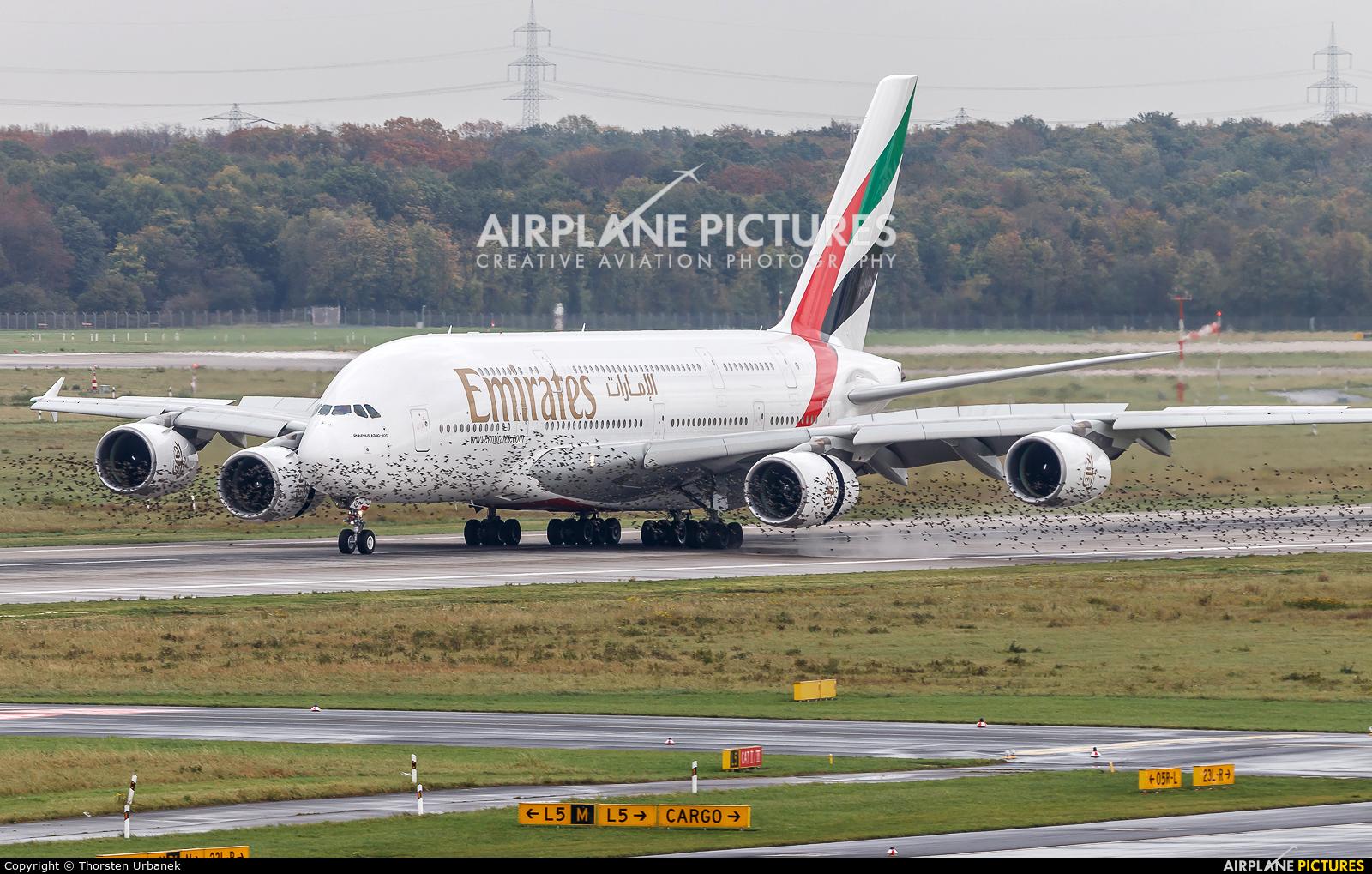 Emirates Airlines A6-EOT aircraft at Düsseldorf