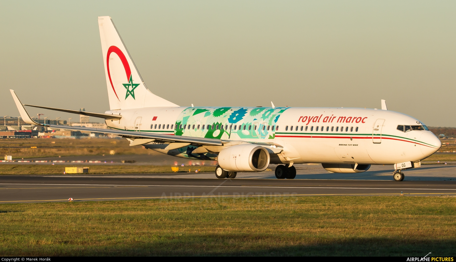 Royal Air Maroc CN-RGG aircraft at Frankfurt