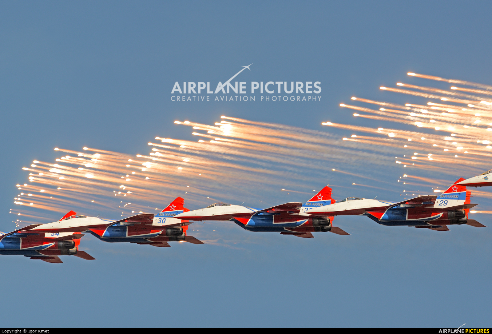 """Russia - Air Force """"Strizhi"""" - aircraft at Batajnica"""