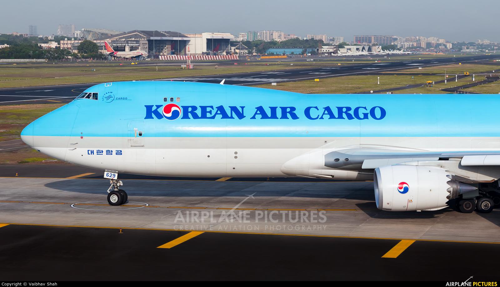 Korean Air Cargo HL7629 aircraft at Mumbai - Chhatrapati Shivaji Intl
