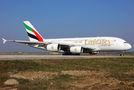 Emirates Airlines Airbus A380 A6-EDB at Milan - Malpensa airport