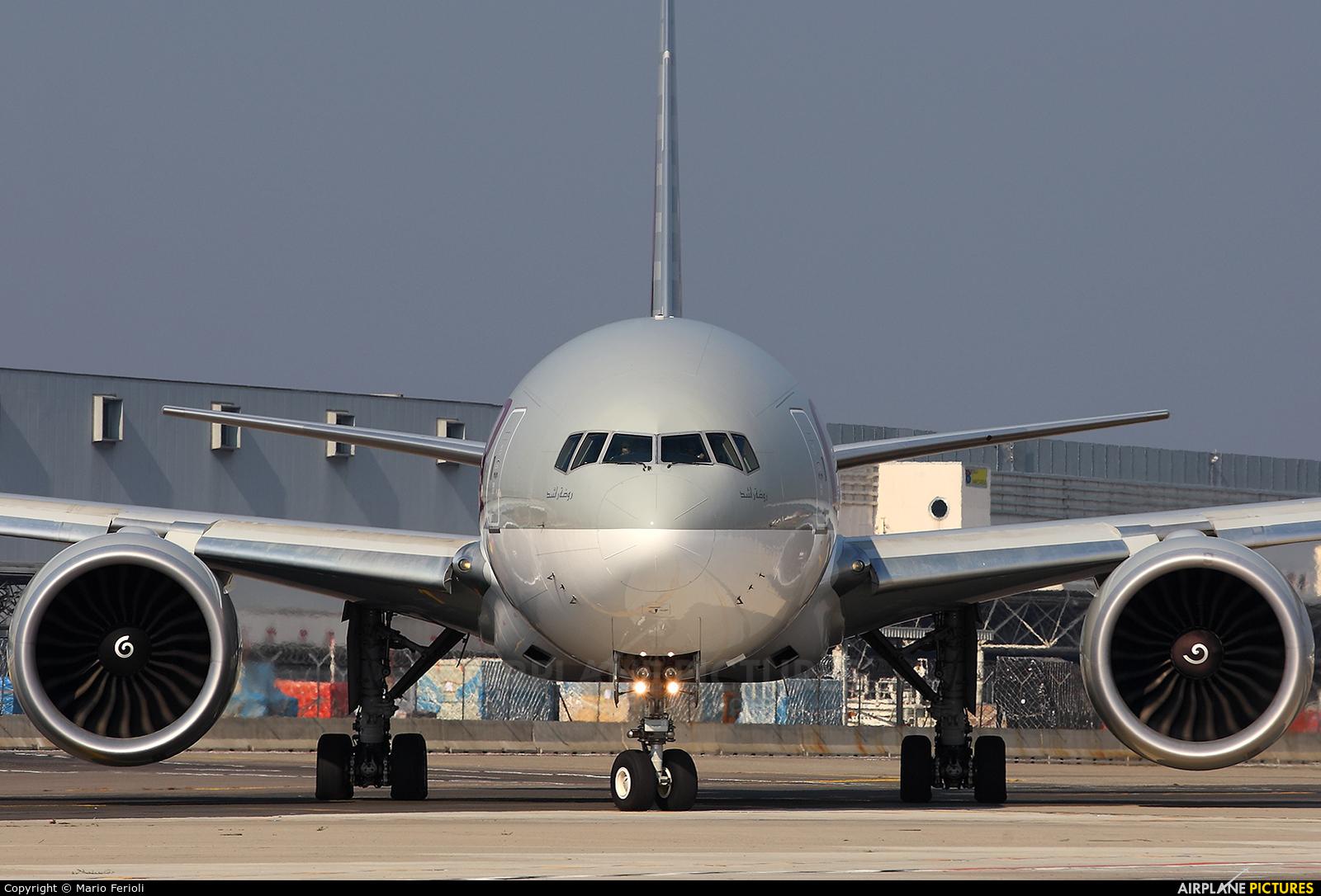 Qatar Airways Cargo A7-BFD aircraft at Milan - Malpensa