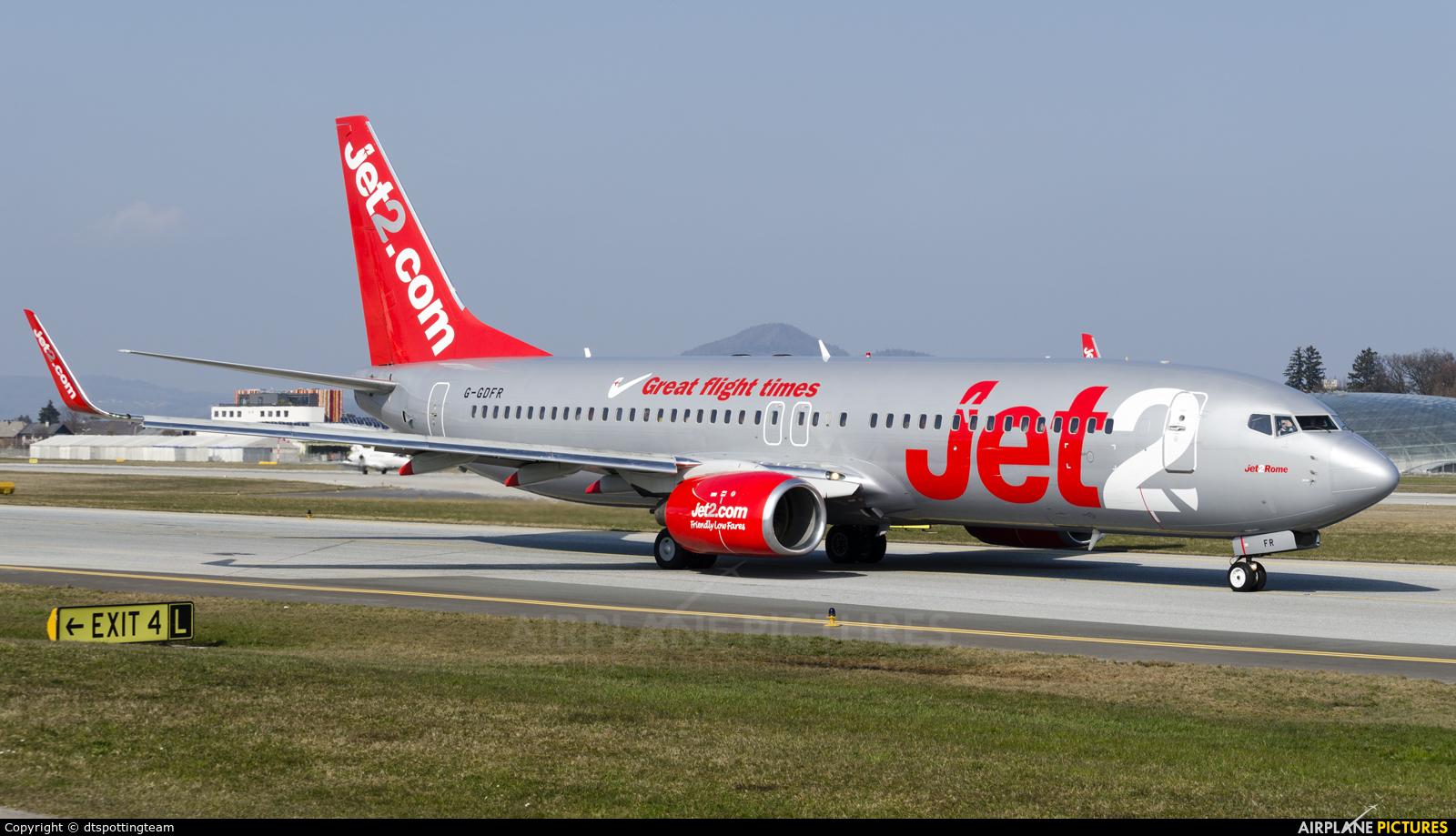 Jet2 G-GDFR aircraft at Salzburg