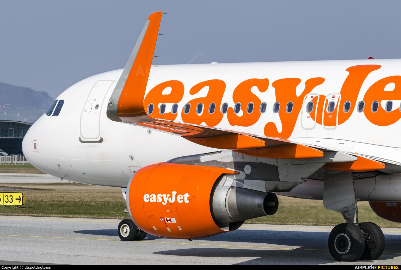 easyJet G-EZWB aircraft at Salzburg