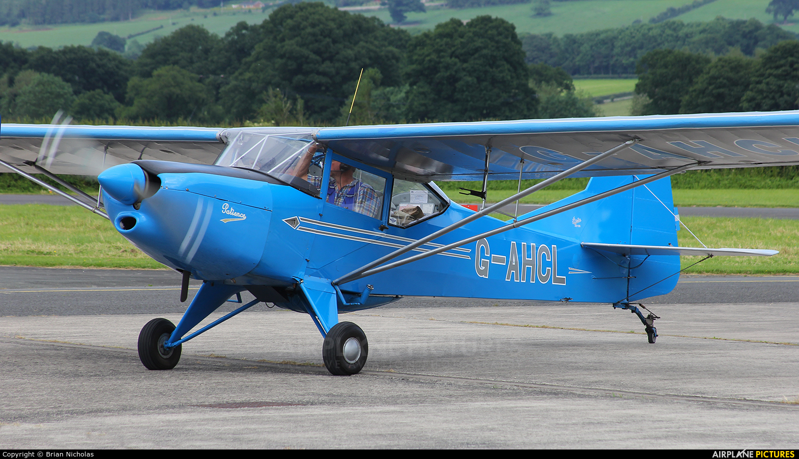 Private G-AHCL aircraft at Welshpool