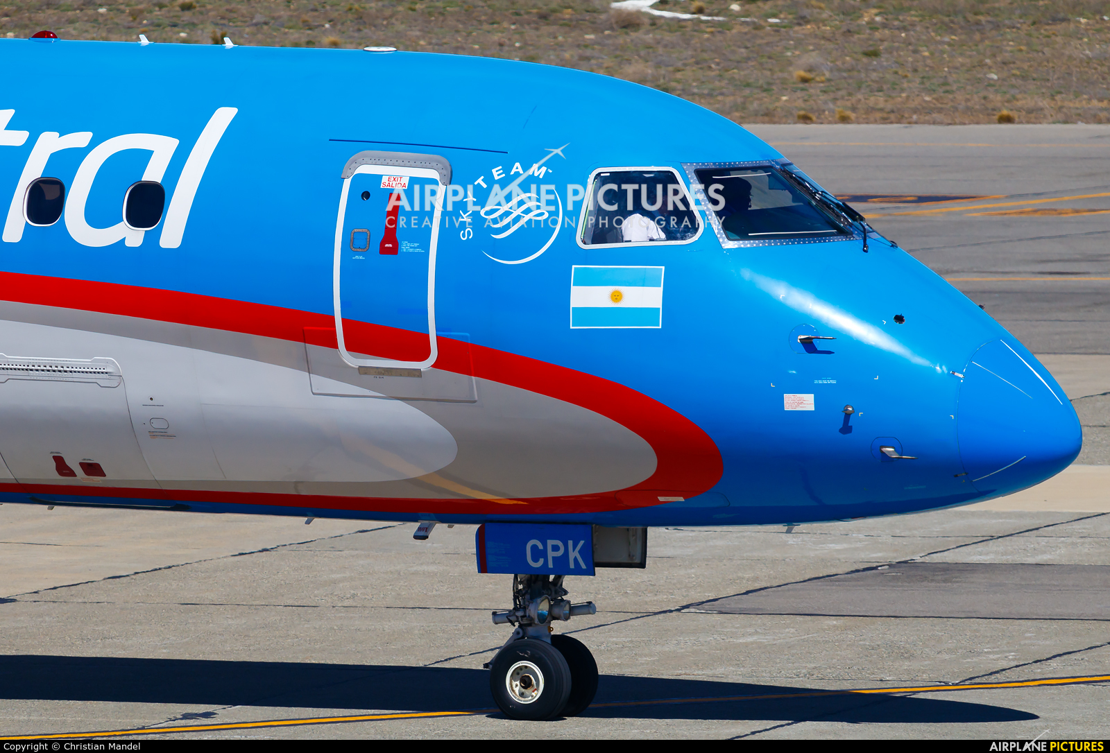 Austral Lineas Aereas LV-CPK aircraft at Bariloche