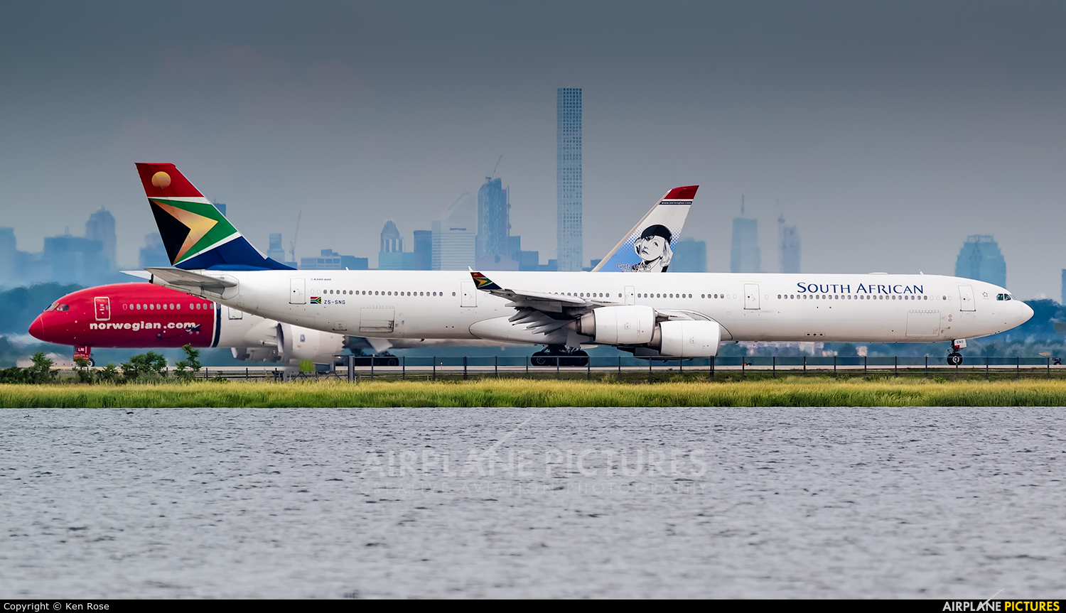 South African Airways ZS-SNG aircraft at New York - John F. Kennedy Intl