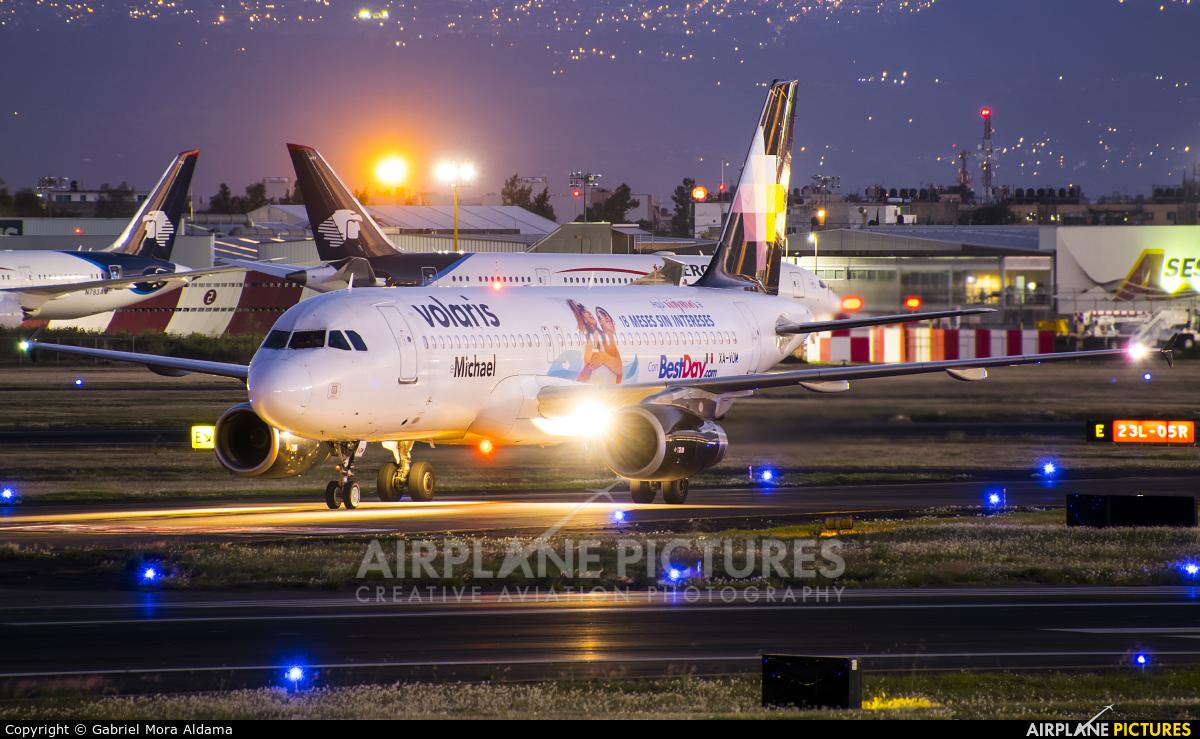 Volaris XA-VOM aircraft at Mexico City - Licenciado Benito Juarez Intl