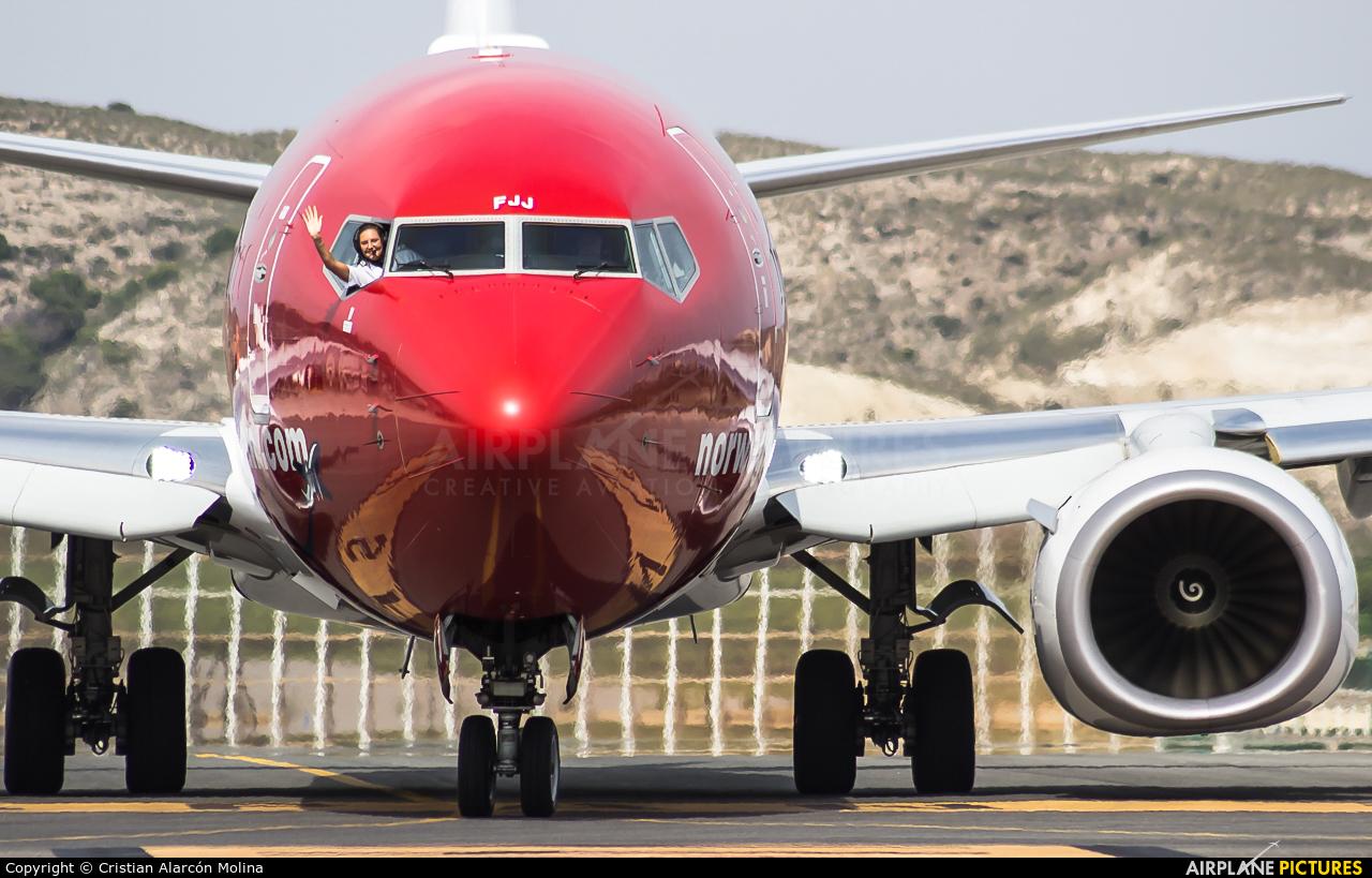 Norwegian Air Shuttle EI-FJJ aircraft at Alicante - El Altet