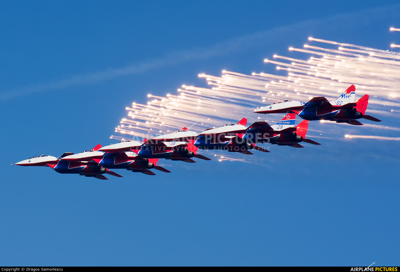 """Russia - Air Force """"Strizhi"""" 02 aircraft at Batajnica"""
