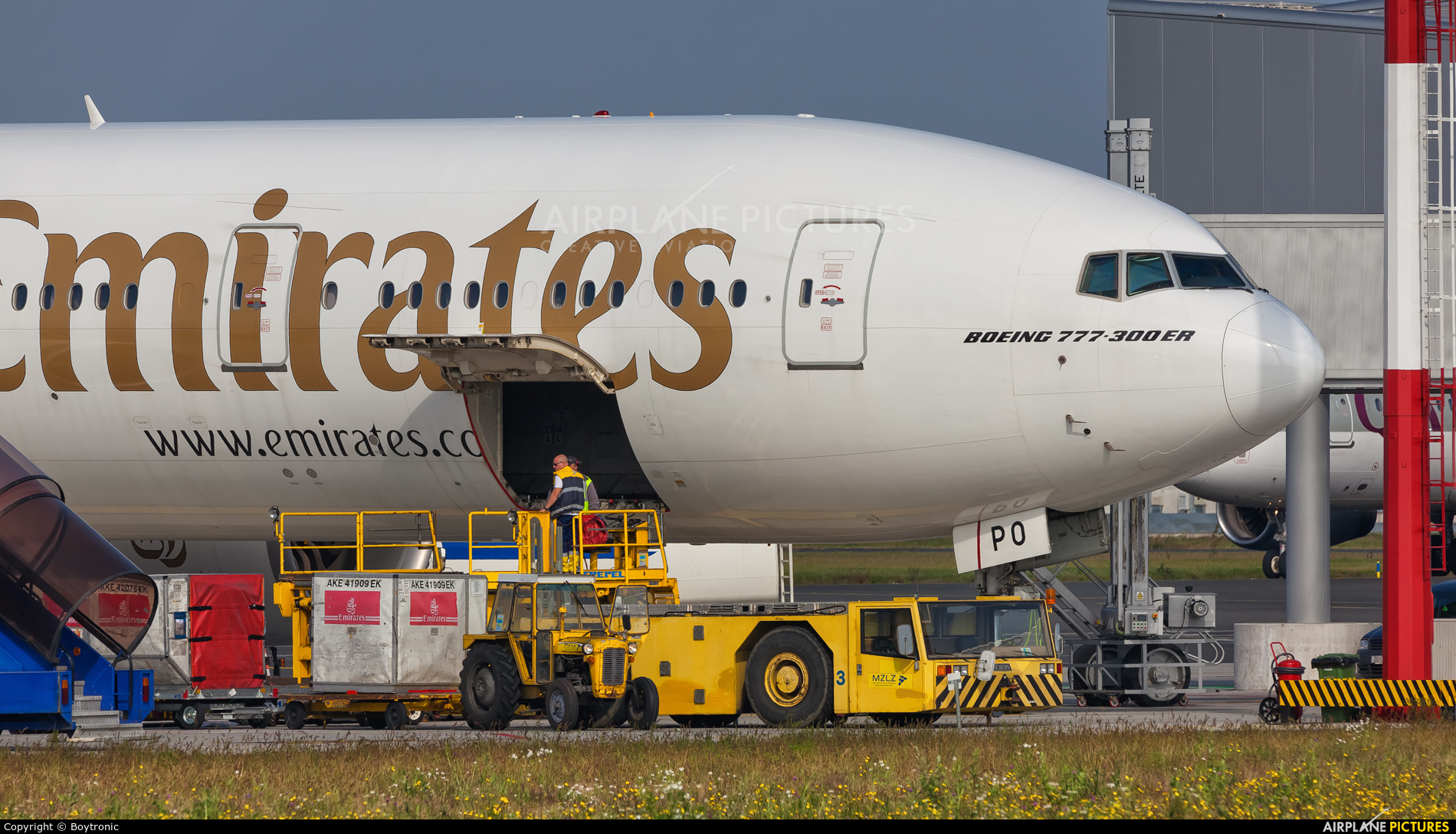 Emirates Airlines A6-EPO aircraft at Zagreb