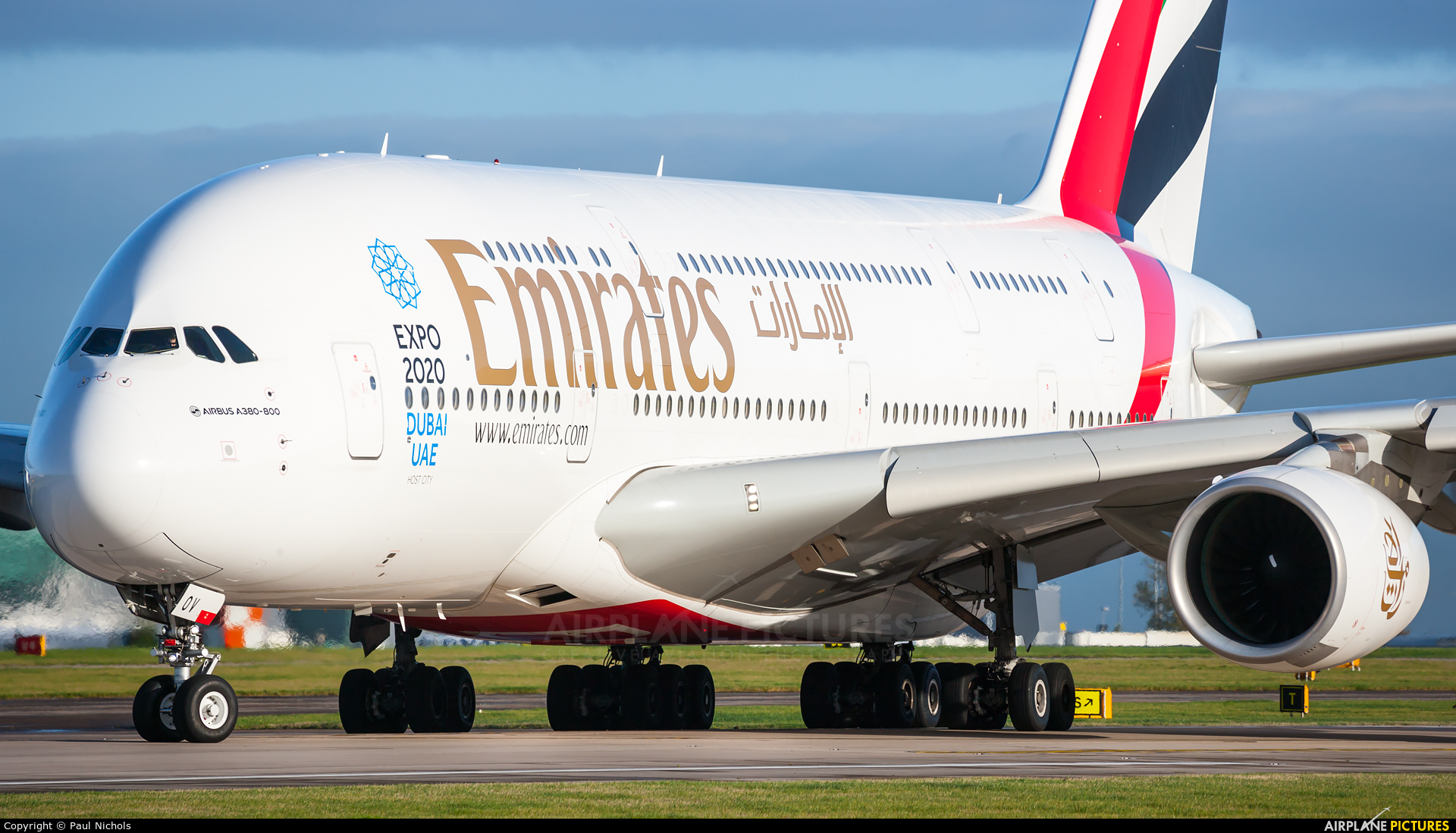 Emirates Airlines A6-EOV aircraft at Manchester