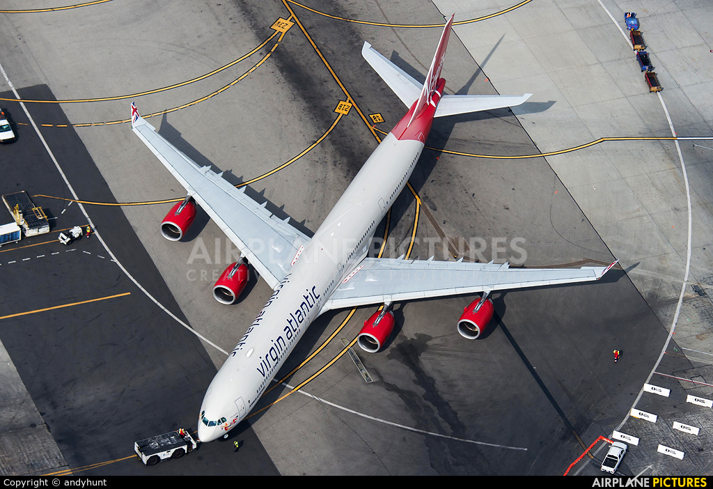 Virgin Atlantic G-VBUG aircraft at Los Angeles Intl