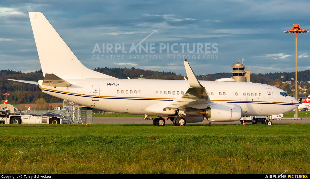 Royal Jet A6-RJV aircraft at Zurich