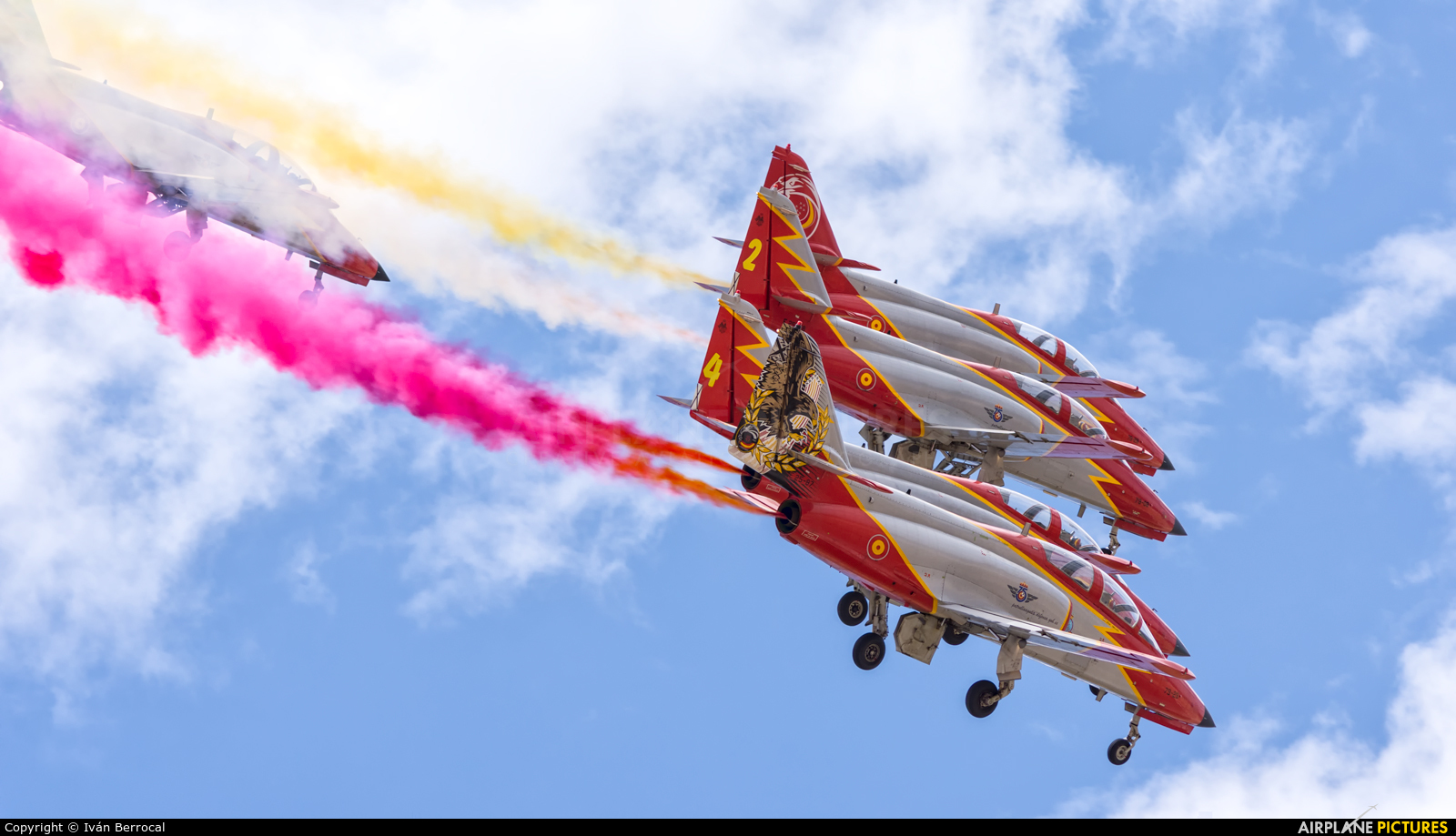 Spain - Air Force : Patrulla Aguila E.25-87 aircraft at Madrid - Cuatro Vientos