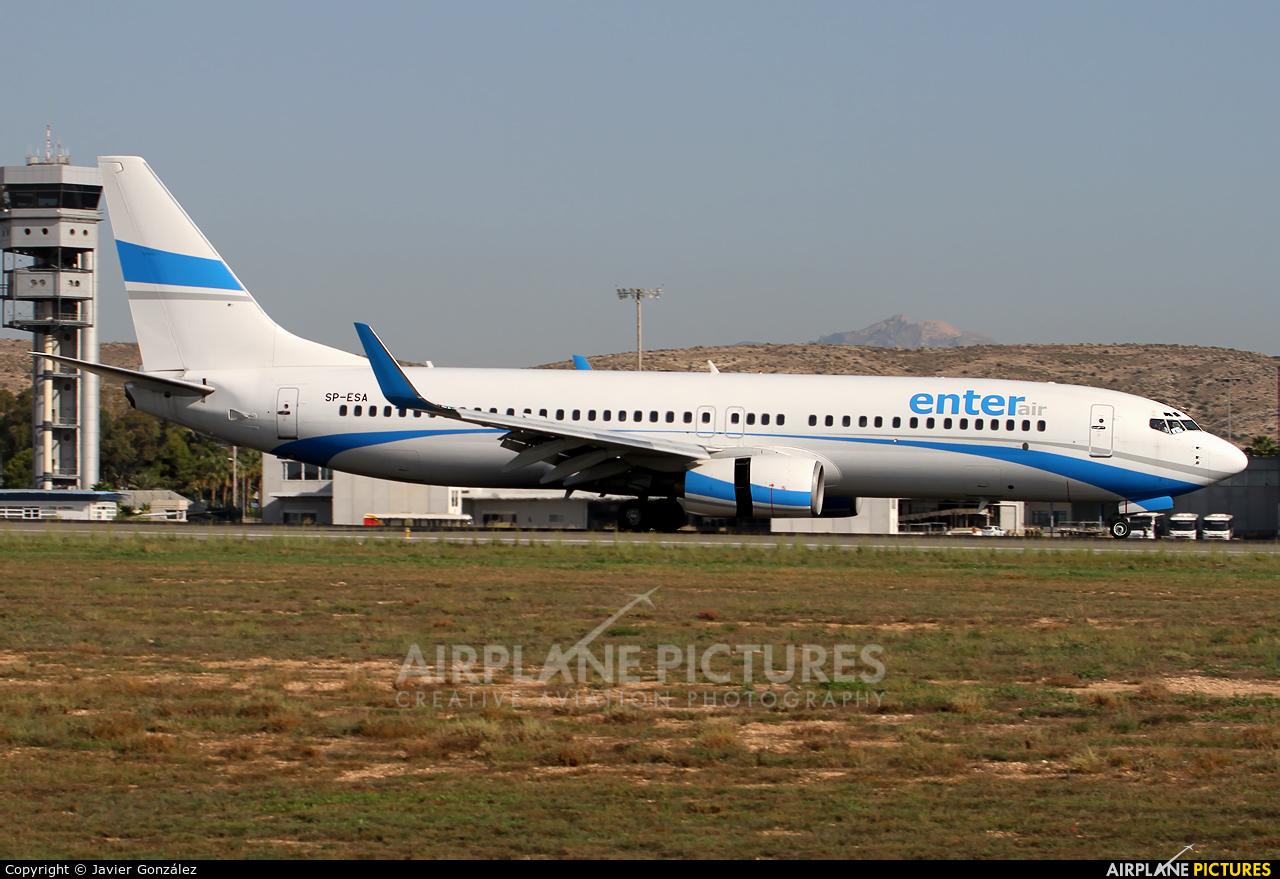Enter Air SP-ESA aircraft at Alicante - El Altet