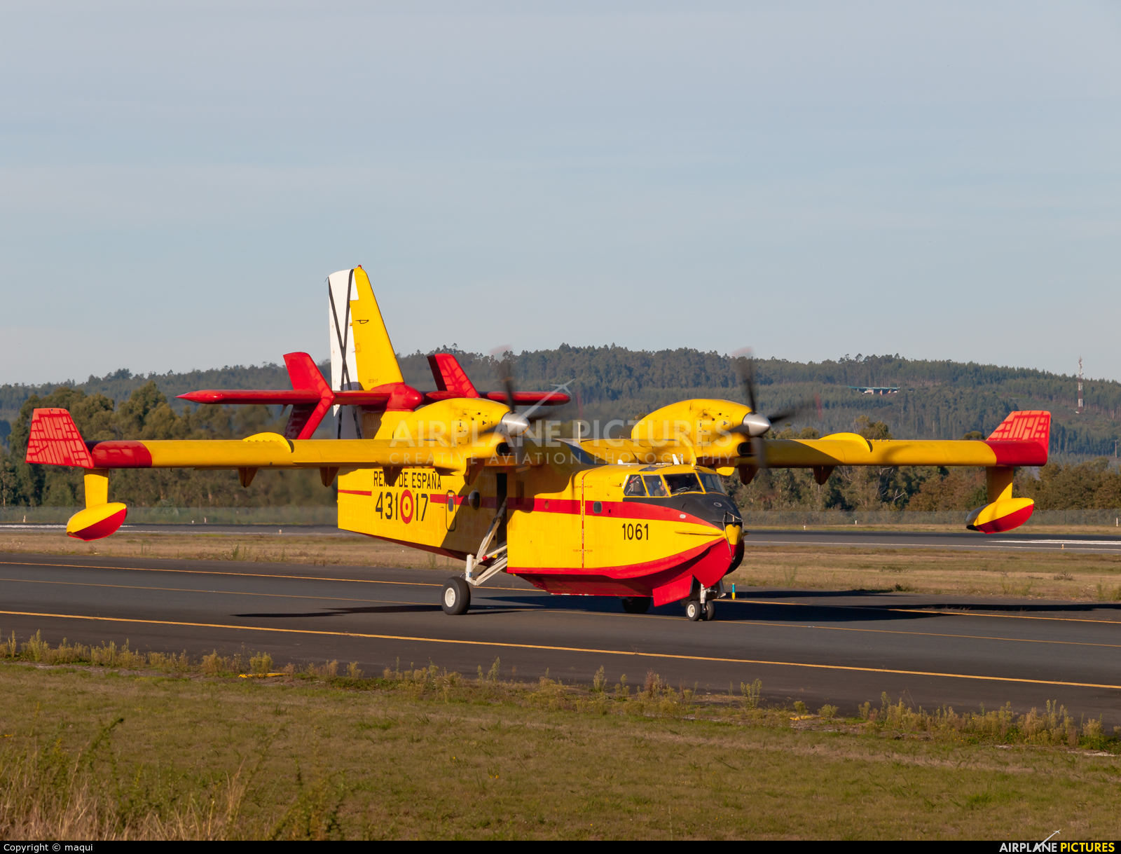 Spain - Air Force UD.13-17 aircraft at Santiago de Compostela