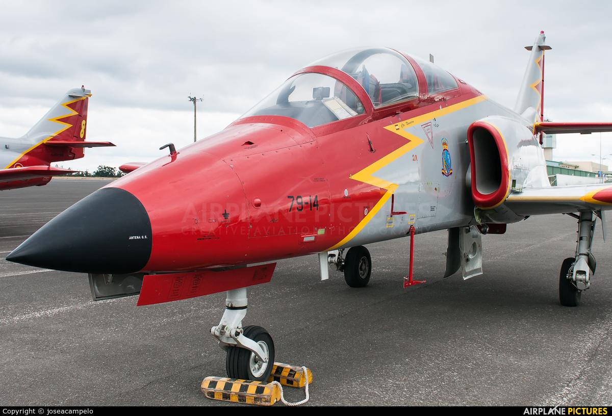 Spain - Air Force : Patrulla Aguila E.25-14 aircraft at Santiago de Compostela