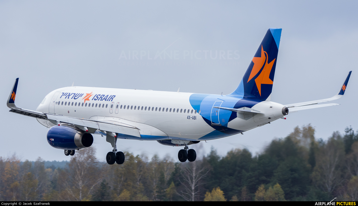 Israir Airlines 4X-ABI aircraft at Katowice - Pyrzowice