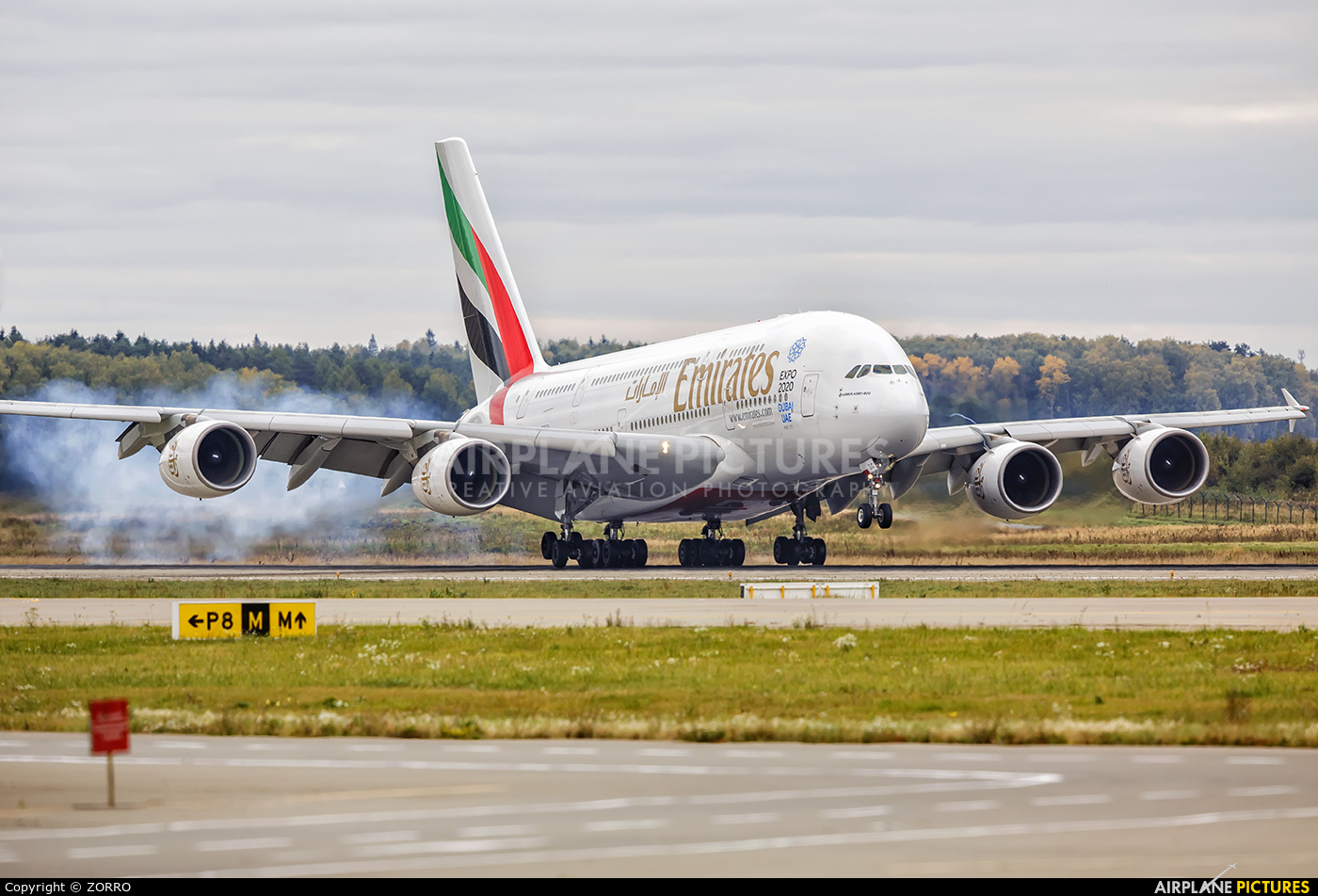 Emirates Airlines A6-EOC aircraft at Moscow - Domodedovo