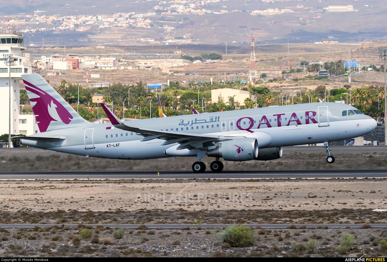 Qatar Airways A7-LAF aircraft at Tenerife Sur - Reina Sofia