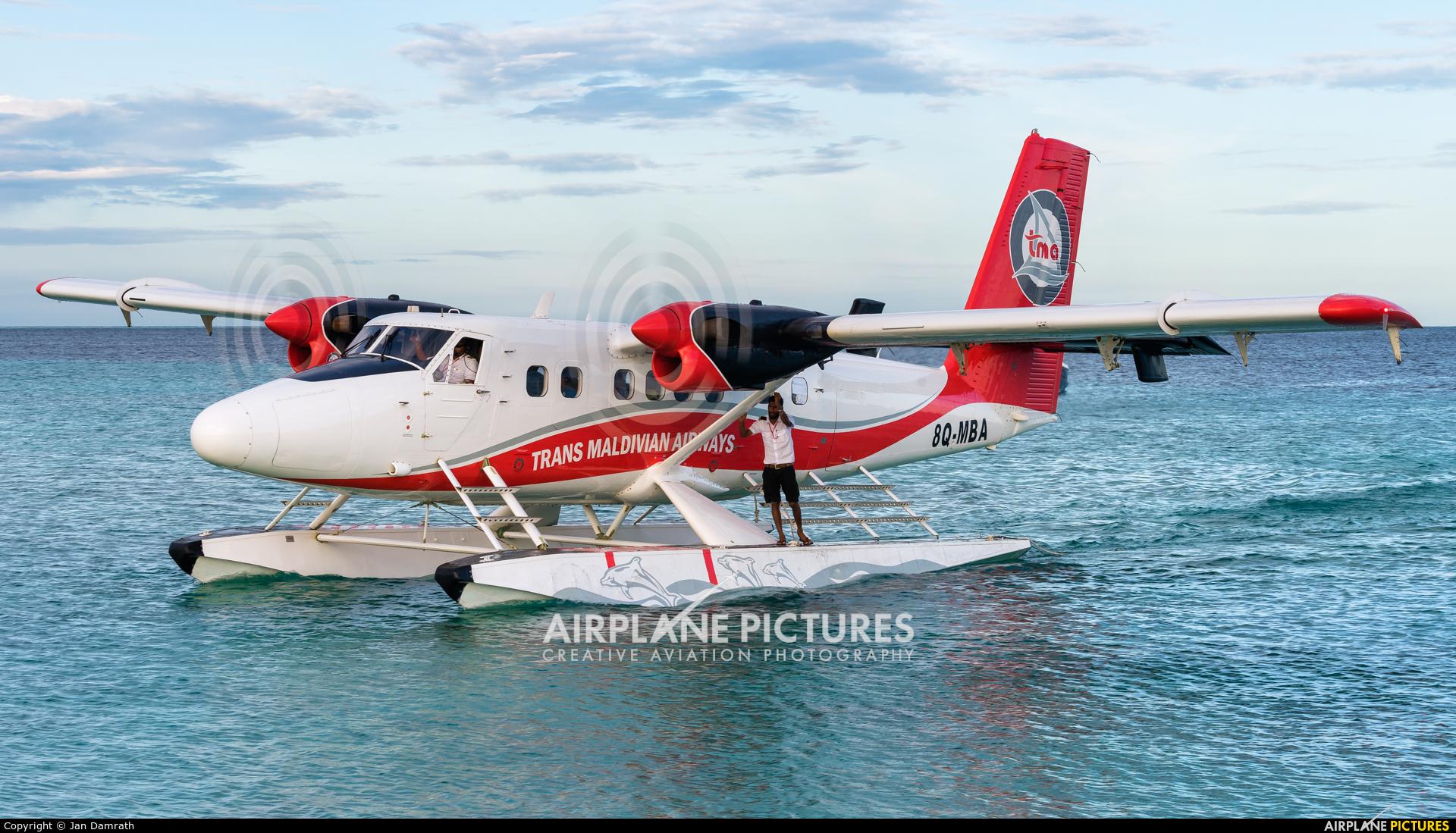 Trans Maldivian Airways - TMA 8Q-MBA aircraft at Off Airport - Maldives