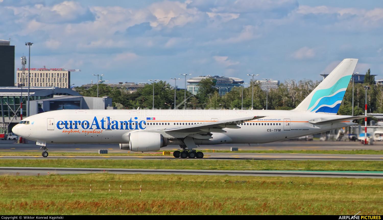 Euro Atlantic Airways CS-TFM aircraft at Warsaw - Frederic Chopin