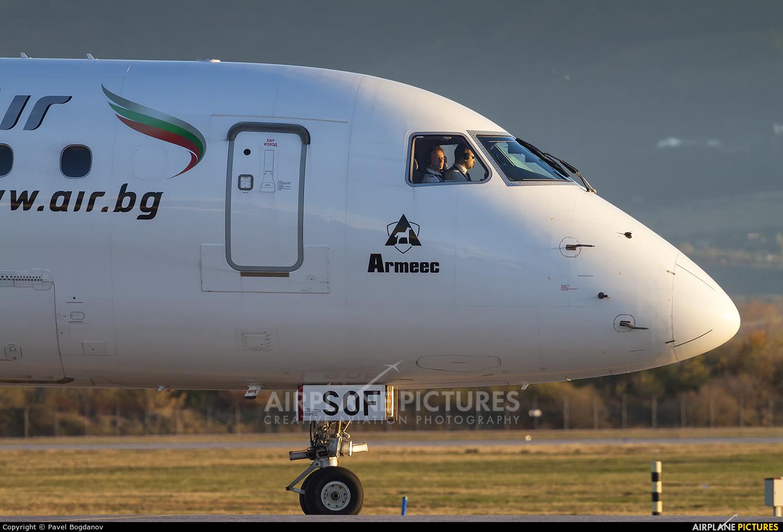 Bulgaria Air LZ-SOF aircraft at Sofia