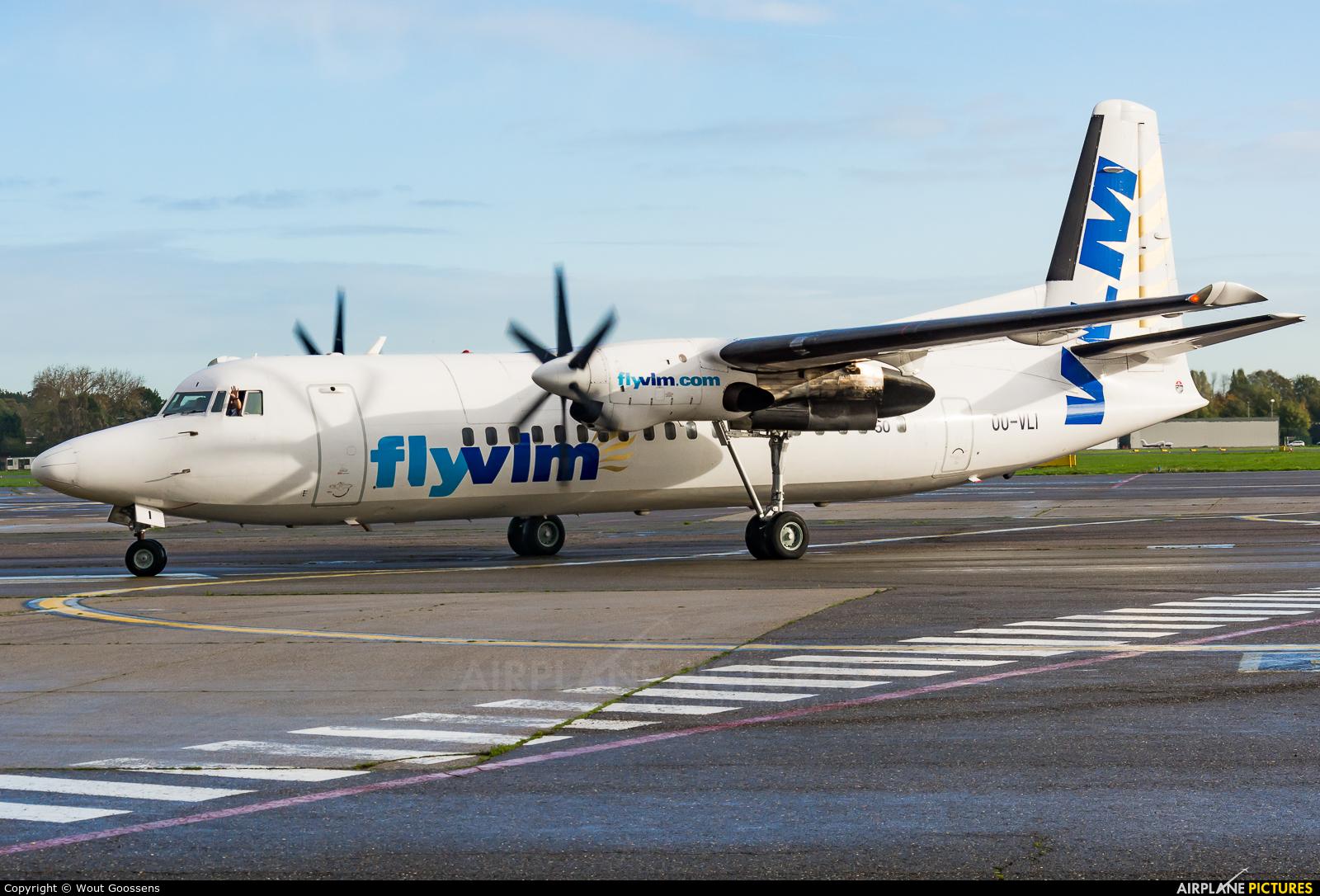 VLM Airlines OO-VLI aircraft at Antwerp - Deurne