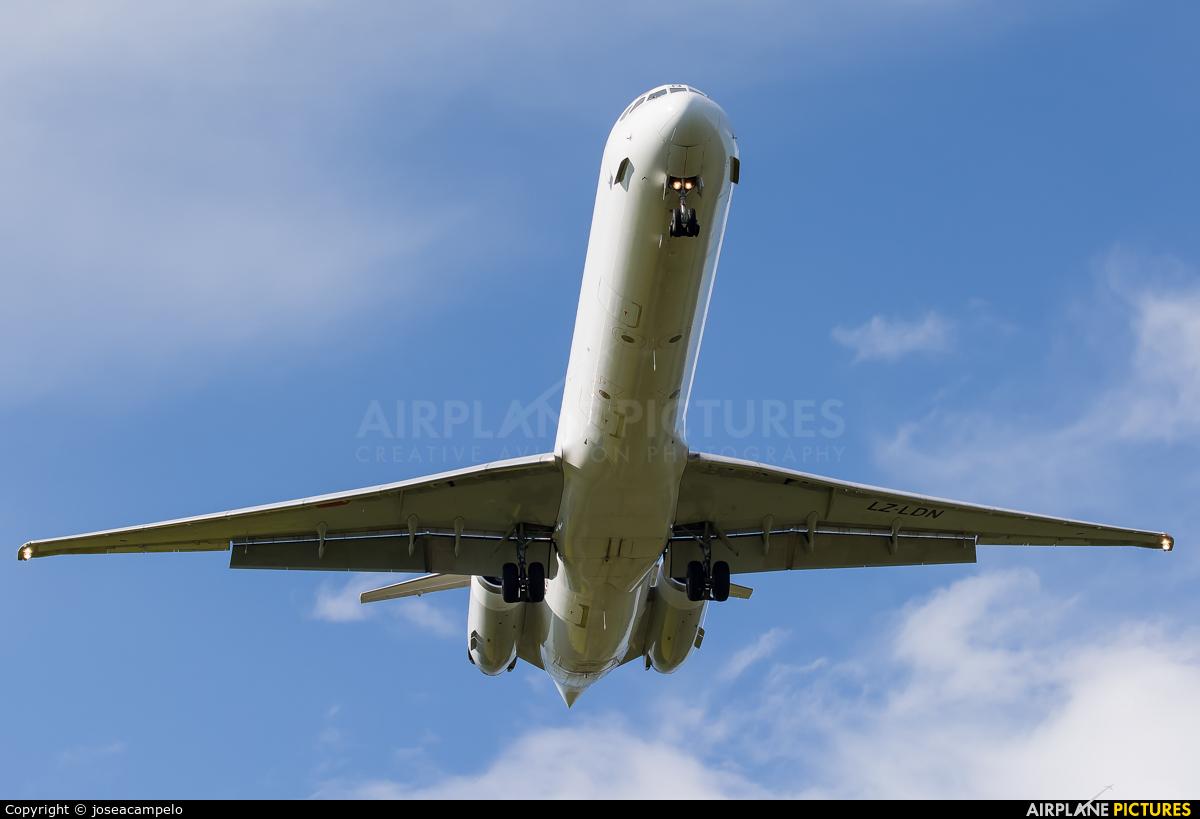 Bulgarian Air Charter LZ-LDN aircraft at Santiago de Compostela