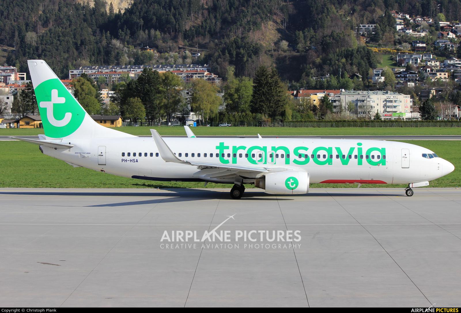 Transavia PH-HSA aircraft at Innsbruck