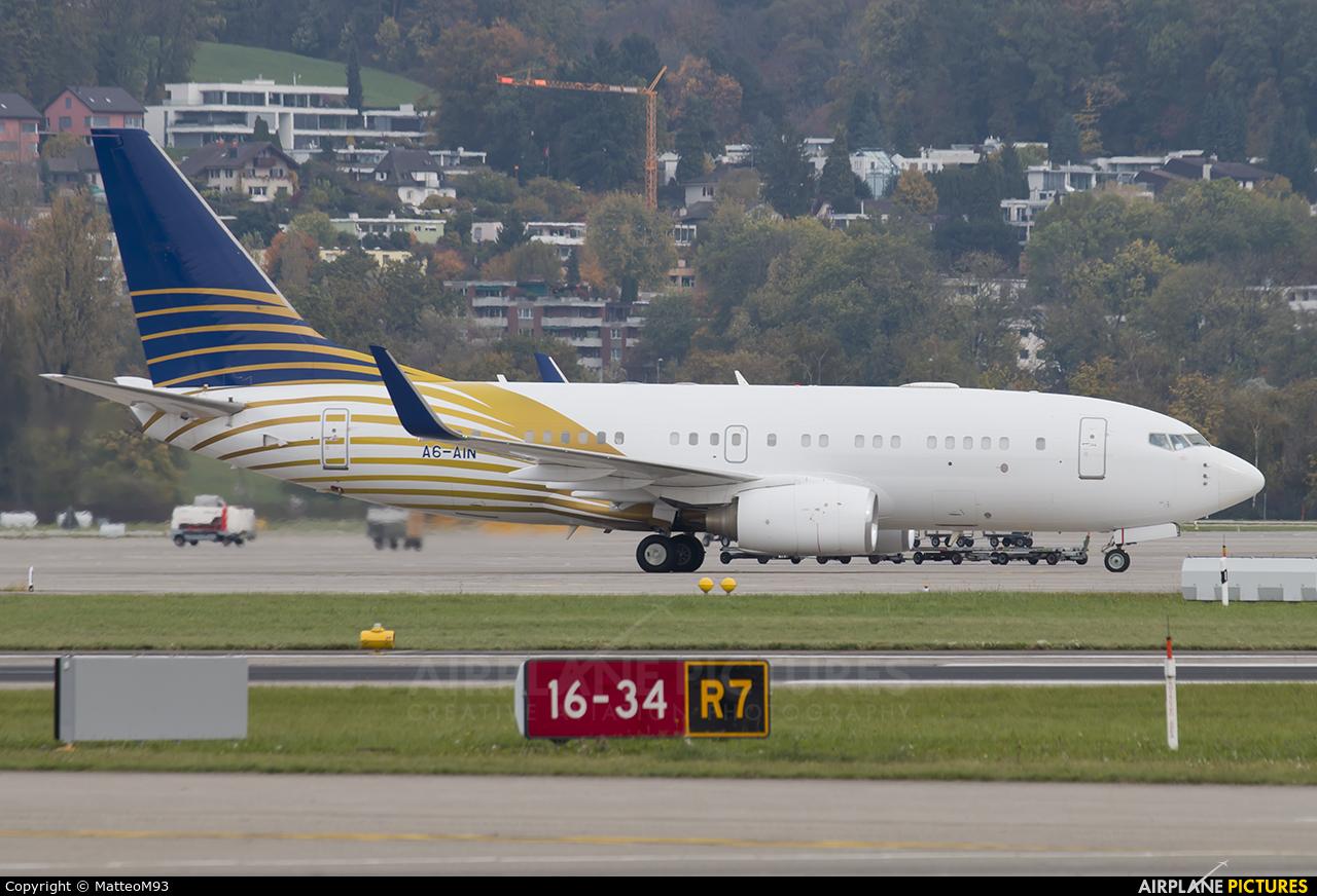 Royal Jet A6-AIN aircraft at Zurich