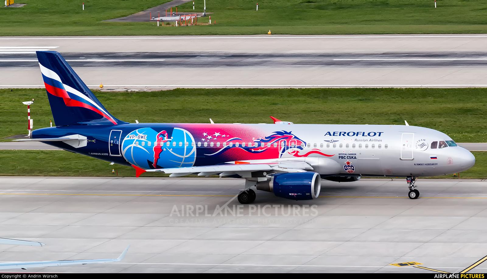 Aeroflot VP-BWE aircraft at Zurich