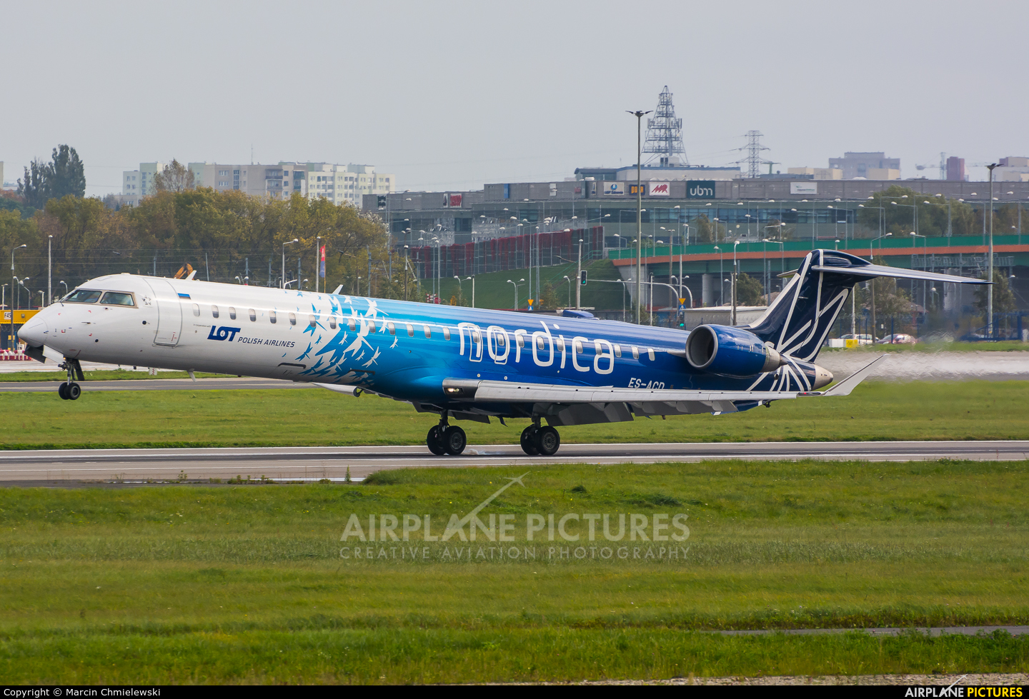 Nordica ES-ACD aircraft at Warsaw - Frederic Chopin