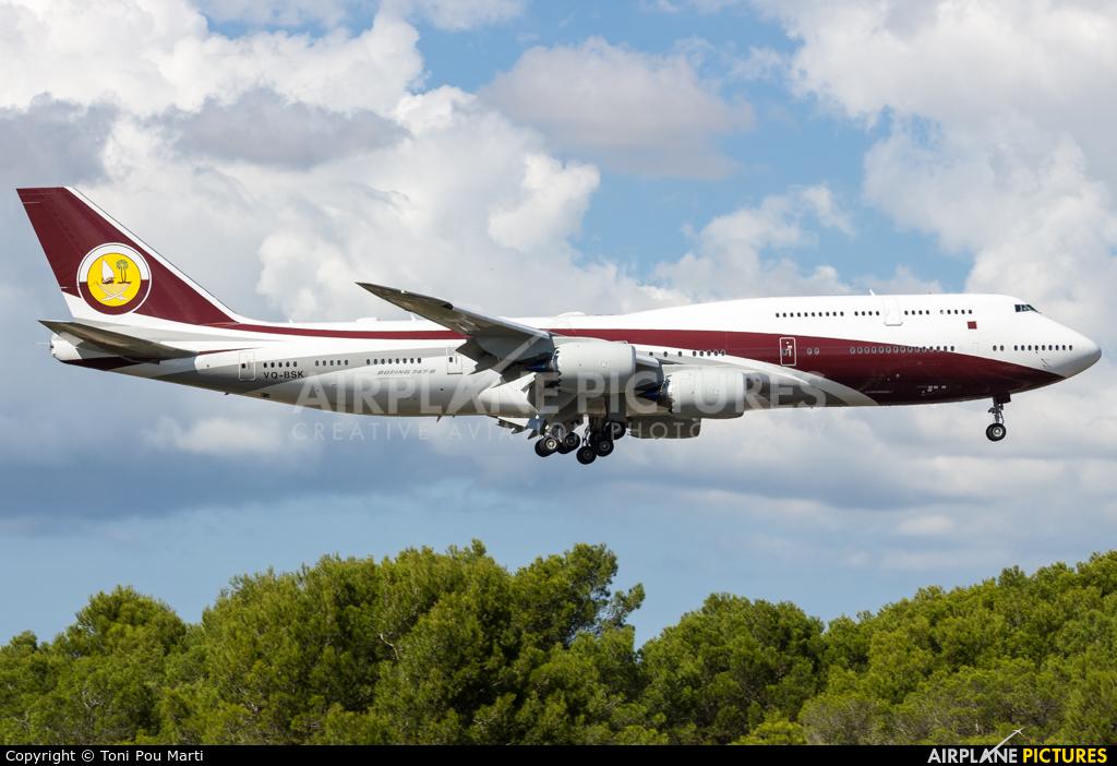 Qatar Amiri Flight VQ-BSK aircraft at Palma de Mallorca