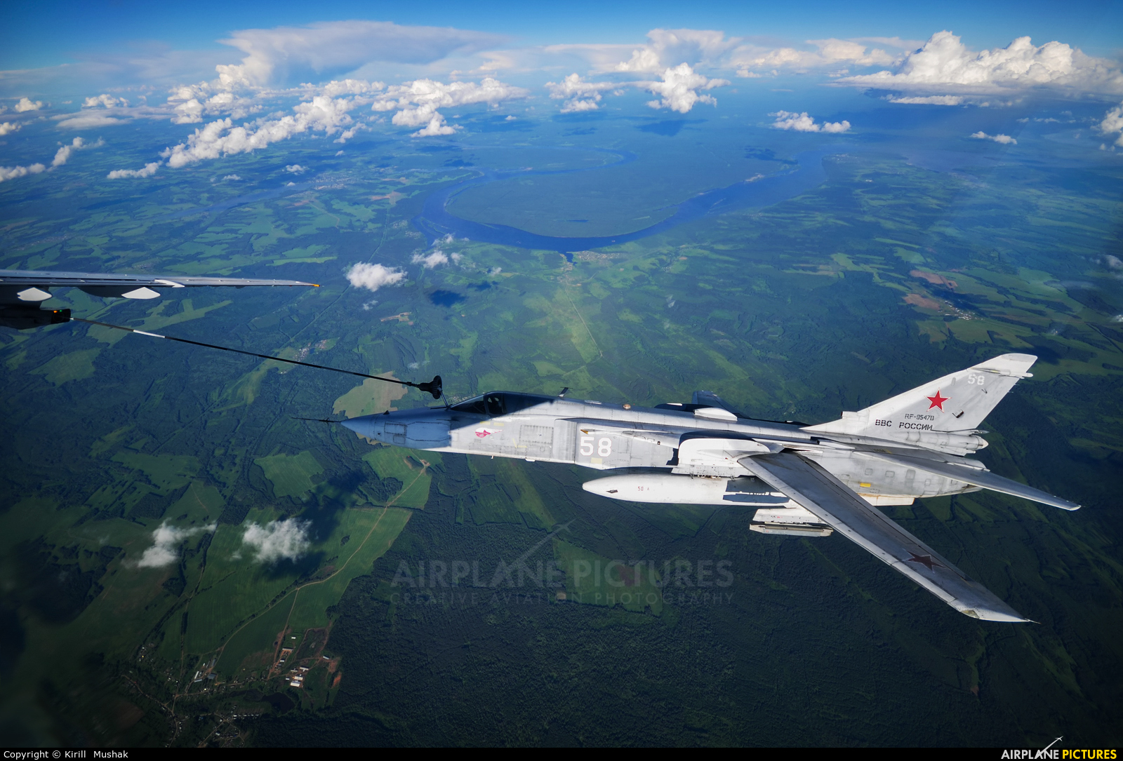 Russia - Air Force RF-95470 aircraft at In Flight - Russia