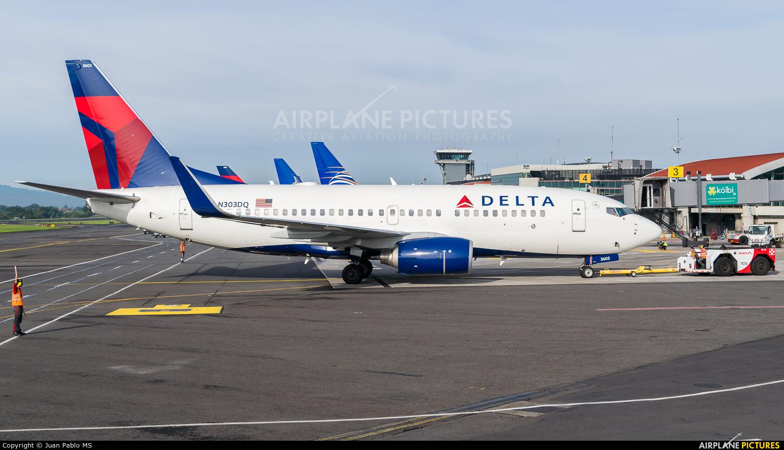 Delta Air Lines N303DQ aircraft at San Jose - Juan Santamaría Intl