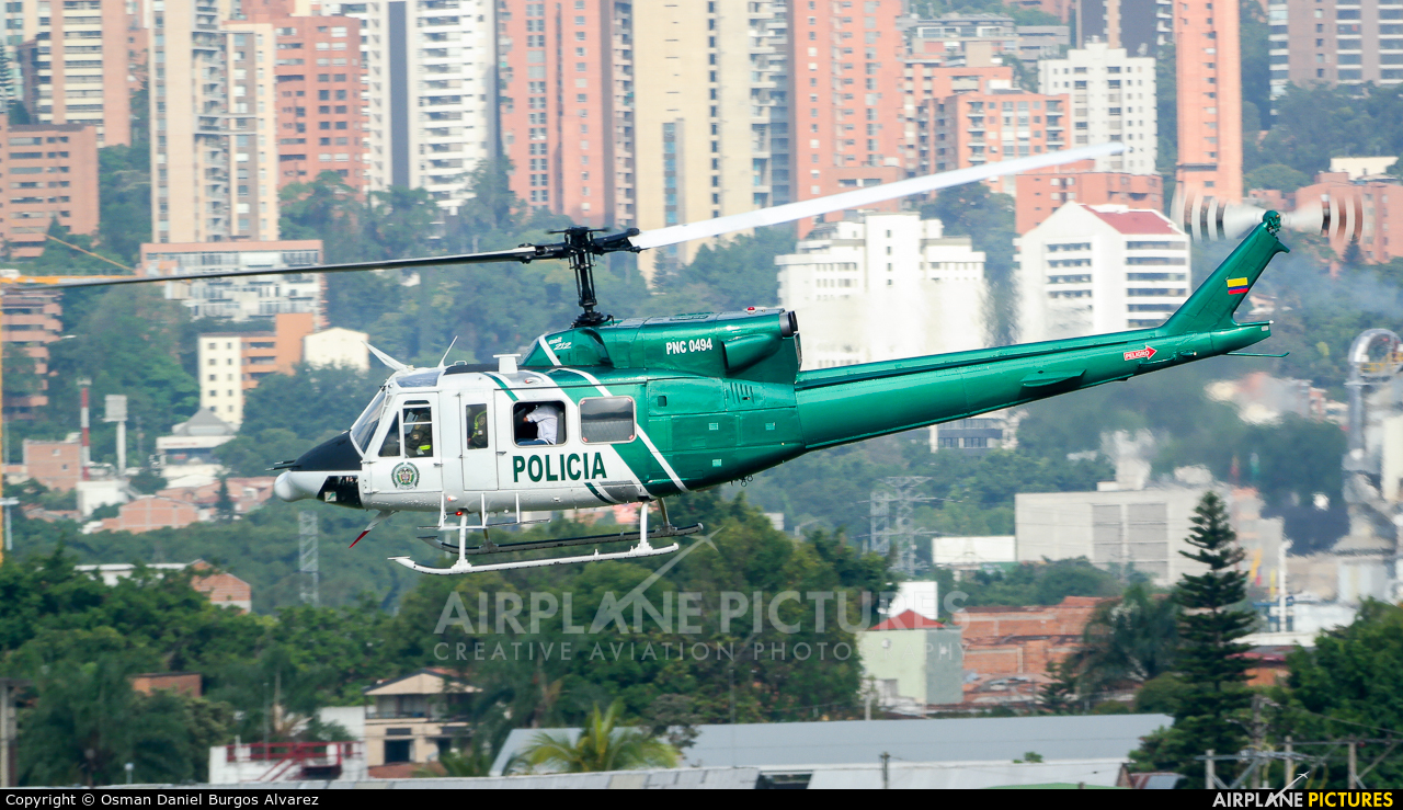 Colombia - Police PNC-0494 aircraft at Medellin - Olaya Herrera
