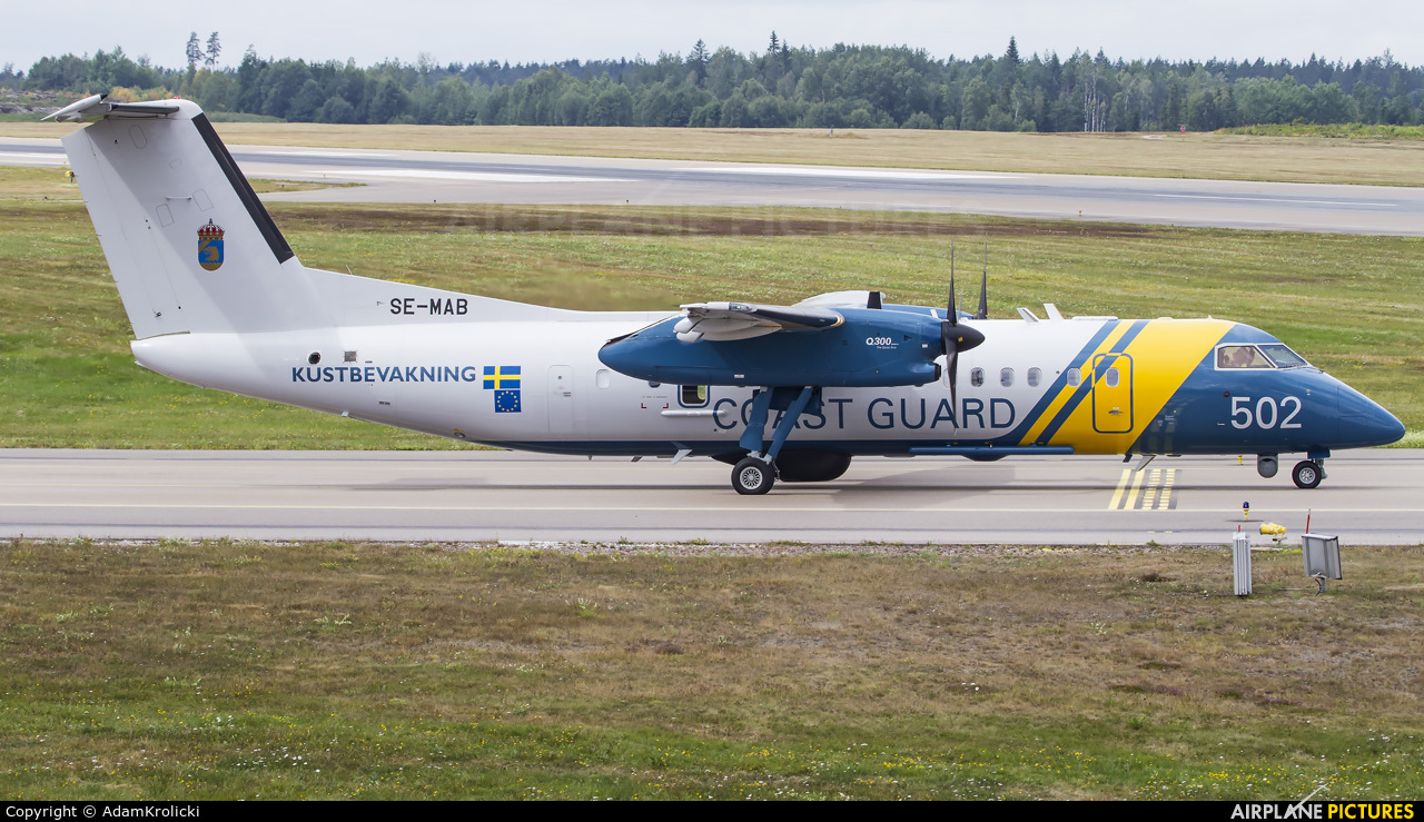 Sweden - Coastguard SE-MAB aircraft at Stockholm - Skavsta