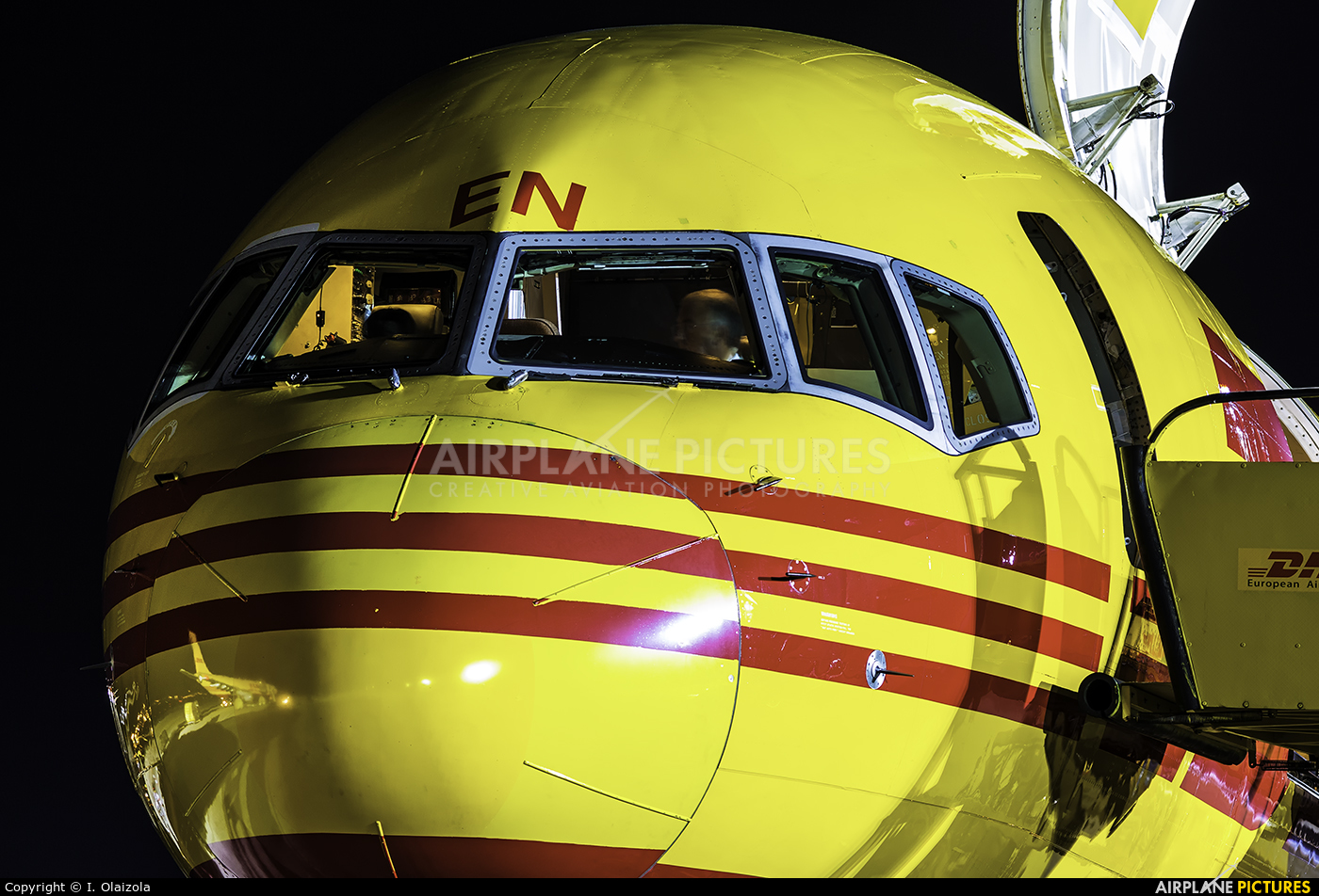 DHL Cargo D-ALEN aircraft at Vitoria