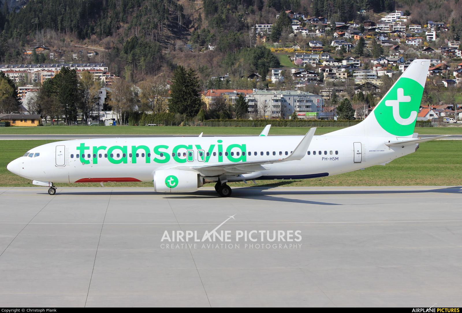 Transavia PH-HSM aircraft at Innsbruck