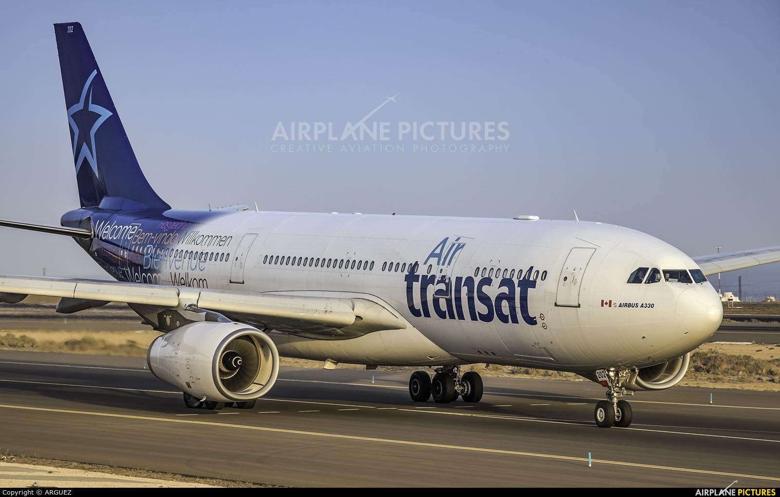 Air Transat C-GTSZ aircraft at Tenerife Sur - Reina Sofia