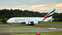 A6-EUH - Emirates Airlines Airbus A380 aircraft
