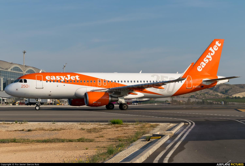 easyJet G-EZOL aircraft at Alicante - El Altet