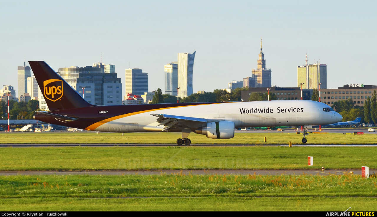 UPS - United Parcel Service N428UP aircraft at Warsaw - Frederic Chopin