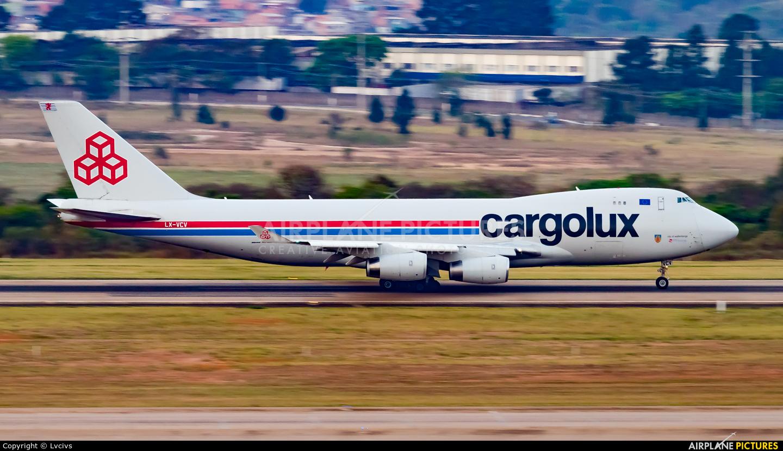 Cargolux LX-VCV aircraft at Campinas - Viracopos Intl